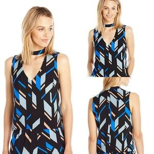 Paris Sunday geometric chocker sleeveless top R304
